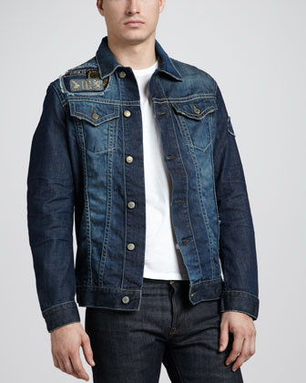 3D Patch Denim Jacket