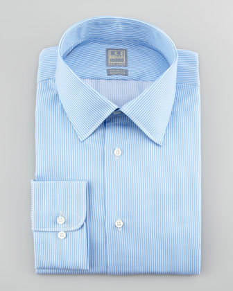 Mini-Bengal Striped Dress Shirt, Blue