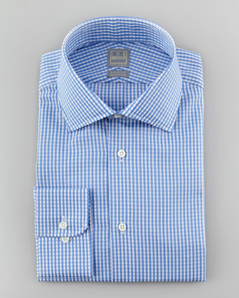Gingham Dress Shirt, Blue