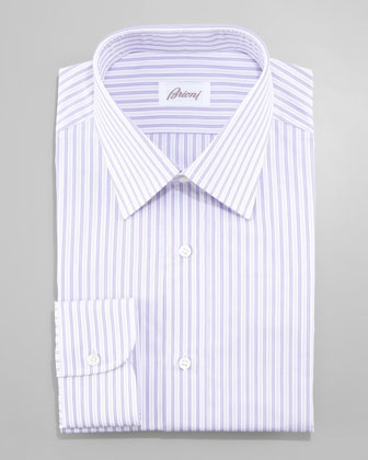 Striped Dress Shirt, Lilac