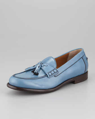 Treviso Tassel Loafer, Light Blue