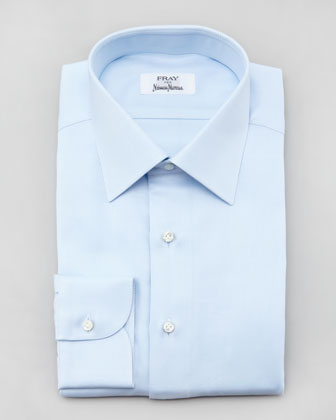 Twill Dress Shirt, Light Blue