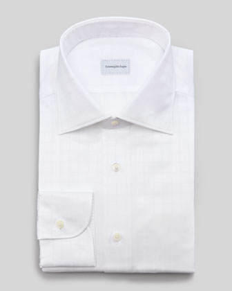 Tonal Windowpane-Check Dress Shirt
