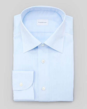 Tonal Herringbone Dress Shirt