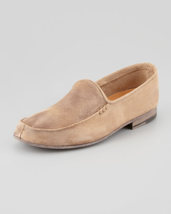 Scotty Vintage Suede Loafer, Tan