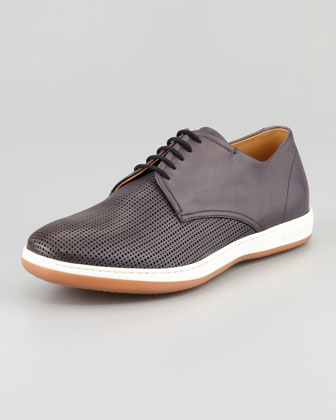 Perforated Derby Sneaker, Black