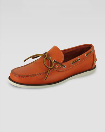 Yarmouth Boat Shoe, Orange