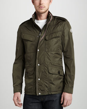 Tipped Field Jacket, Olive