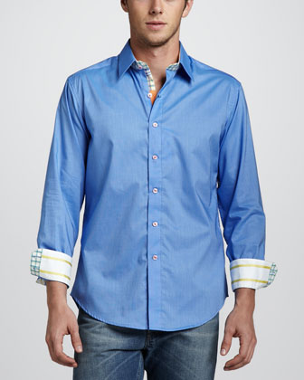 X Collection Bay Shore Sport Shirt, Blue
