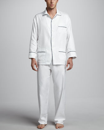 Men's Classic Sateen Pajamas, White
