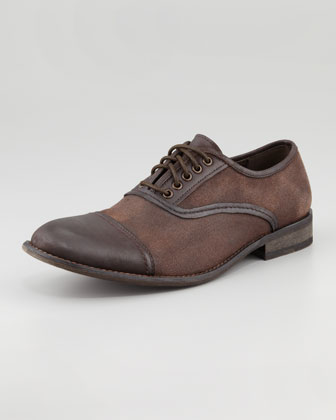 Best Man Cap-Toe Canvas Lace-Up, Brown