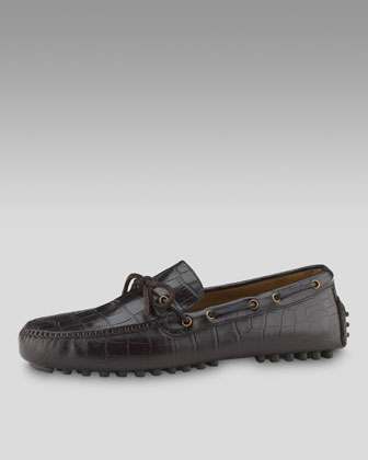 Air Grant Moccasin, Dark Brown Croc