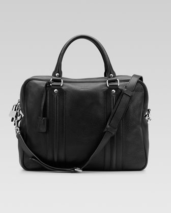 Leather Briefcase, Black