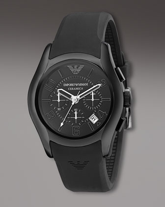 Ceramica Chronograph Watch, Black