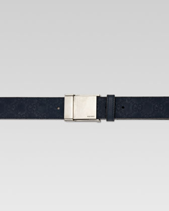 Adjustable Plaque Belt, Blue