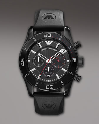 Sportivo Chronograph Watch, Black
