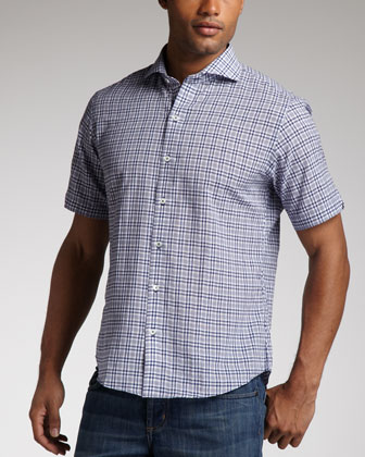 Steve Plaid Short-Sleeve Shirt