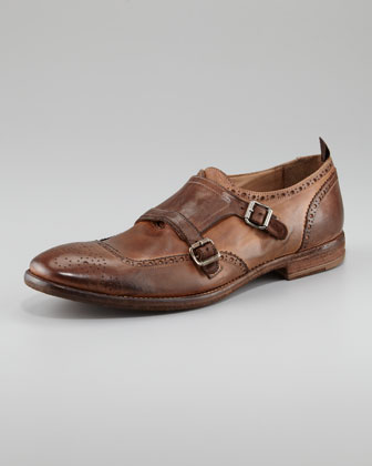 Monk-Strap Perforated Loafer