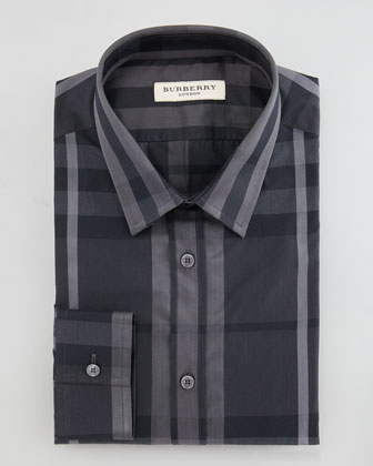 Classic-Fit Check Dress Shirt
