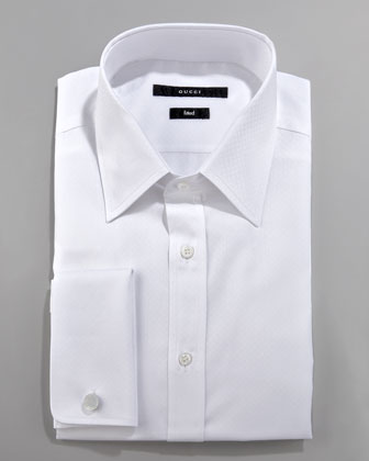Solid French-Cuff Dress Shirt