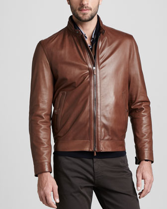 Custom Sports Jacket: Zegna Sport Leather Jacket