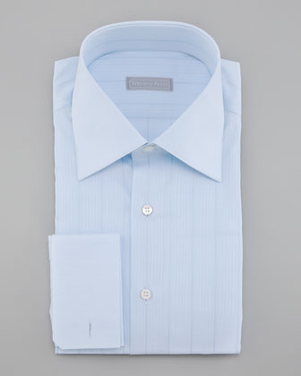 French-Cuff Dress Shirt, Light Blue