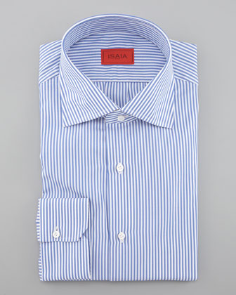 Striped Dress Shirt, Blue/White
