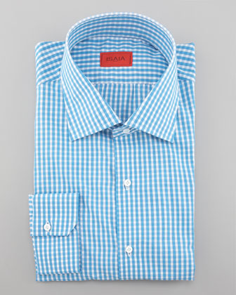 Gingham Dress Shirt, Aqua