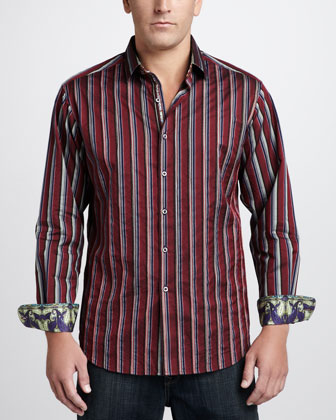 Ashlar Striped Sport Shirt