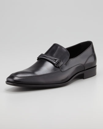 Carmino Bit Loafer, Black