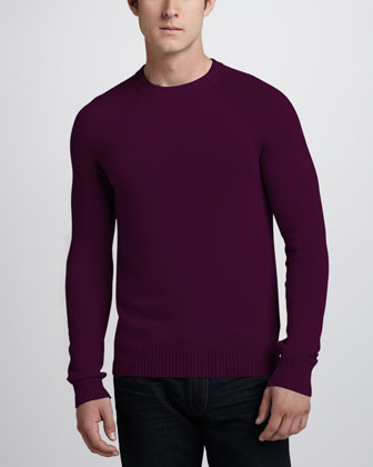 Cashmere Raglan Sweater, Kehelland Raspberry
