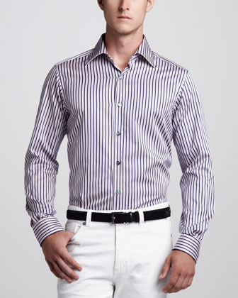 Multi-Stripe Sport Shirt