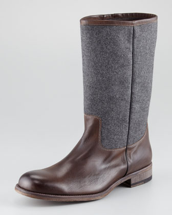 Wool-Shaft Boot
