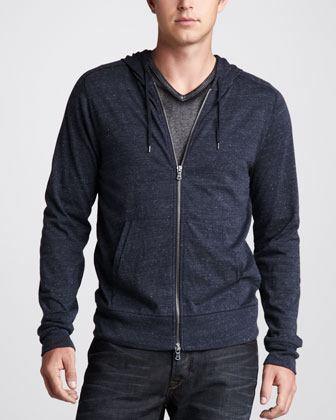 Stretch-Cotton Zip Hoodie