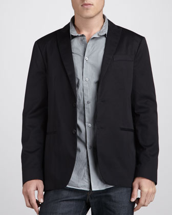 Peak-Lapel Soft Jacket
