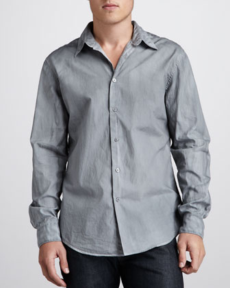 Slim-Fit Sport Shirt, Flagstone