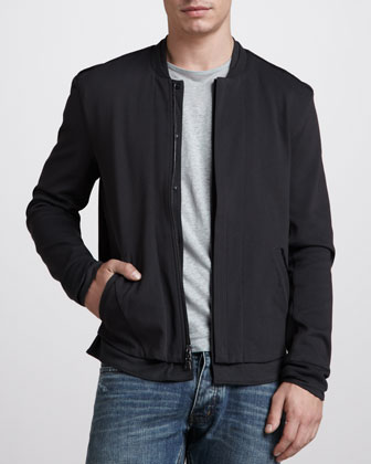 Mock-Collar Zip Jacket
