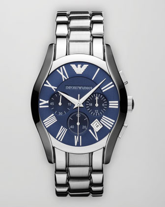 Classic Chronograph Watch, Blue