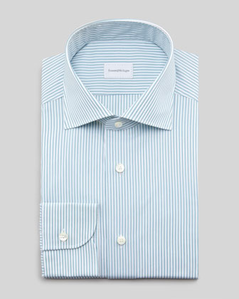 Striped Dress Shirt, Aqua