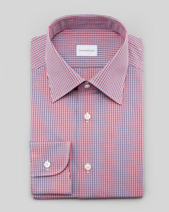 Check Dress Shirt, Blue/Pink