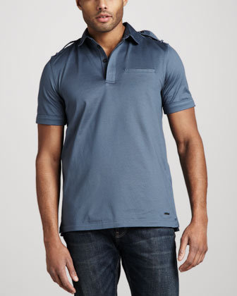 Military Polo, Steel Blue
