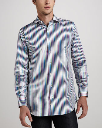 Pinwheel Striped Sport Shirt