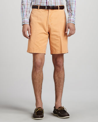 Winston Washed Twill Shorts, Papaya