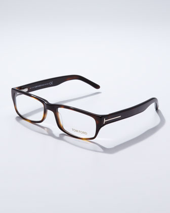 Small Havana Square Frame Fashion Glasses