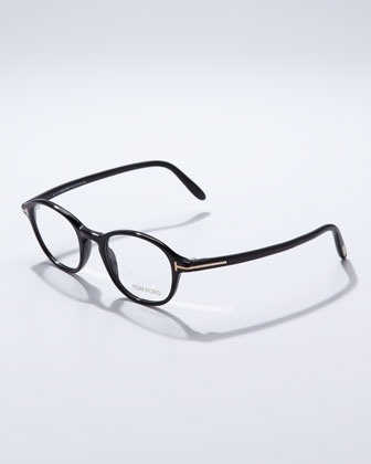 Round Frame Fashion Glasses, Black