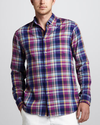 Plaid Sport Shirt, Purple