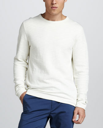Slub-Knit Sweatshirt