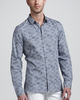 Printed Cotton-Silk Shirt
