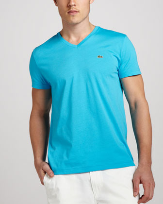 V-Neck Tee, Hawaiian Blue