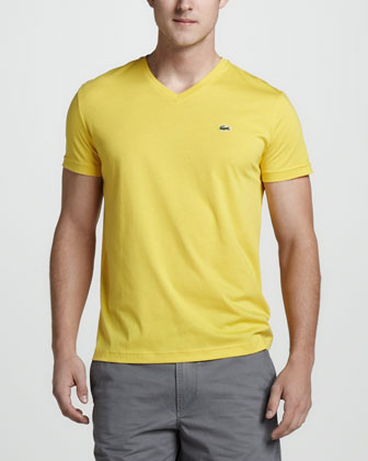 V-Neck Tee, Starfruit Yellow